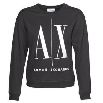 textil Dam Sweatshirts Armani Exchange 8NYM02 Svart
