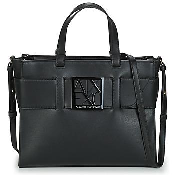 Väskor Dam Handväskor med kort rem Armani Exchange  Svart