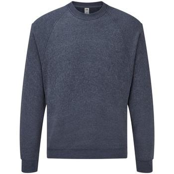 textil Herr Sweatshirts Fruit Of The Loom 62216 Marinblått