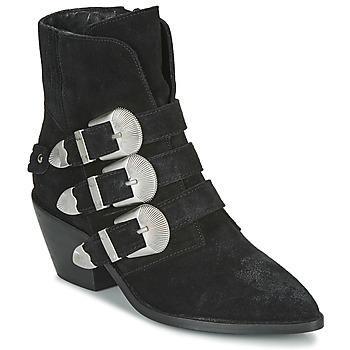 Skor Dam Boots Pepe jeans WESTERN W BUCKLE Svart
