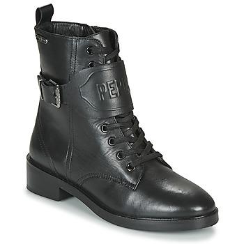Skor Dam Boots Pepe jeans MALDON LOGO Svart