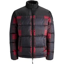 textil Herr Vindjackor Jack & Jones 12157783 JORCALL PUFFER JACKET BLACK CHECKED Negro
