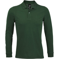 textil Herr Långärmade pikétröjor  Sols PERFECT LSL COLORS MEN Verde