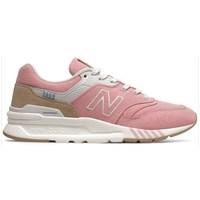 Skor Dam Sneakers New Balance 997 Vit, Beige, Rosa