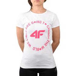textil Barn T-shirts & Pikétröjor 4F Girl's T-shirt HJL20-JTSD013A-10S