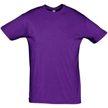 textil Herr T-shirts Sols REGENT COLORS MEN Violeta