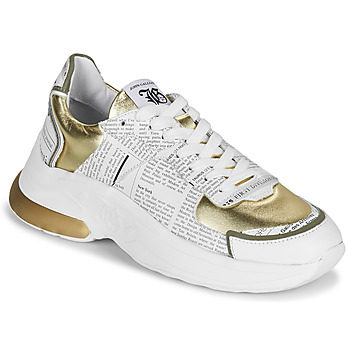 Skor Dam Sneakers John Galliano 3646 Vit / Guldfärgad