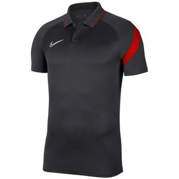 textil Herr Kortärmade pikétröjor Nike Dry Academy Pro Svarta