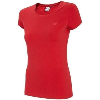 textil Dam T-shirts 4F TSD001 Röda