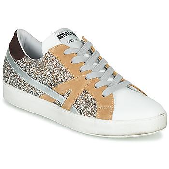 Skor Dam Sneakers Meline IN1344 Vit / Beige / Guldfärgad