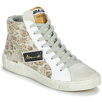 Skor Dam Höga sneakers Meline NK5050 Beige / Leopard