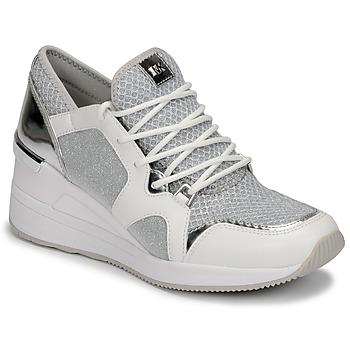 Skor Dam Sneakers MICHAEL Michael Kors LIV TRAINER Vit / Silverfärgad