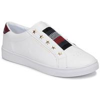 Skor Dam Sneakers Tommy Hilfiger TOMMY HILFIGER ELASTIC SLIP ON Vit
