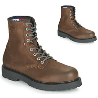 Skor Herr Boots Tommy Jeans NUBUCK WARMLINED LACE UP BOOT Brun