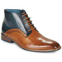 Skor Herr Boots Kdopa HARRIS Cognac / Blå