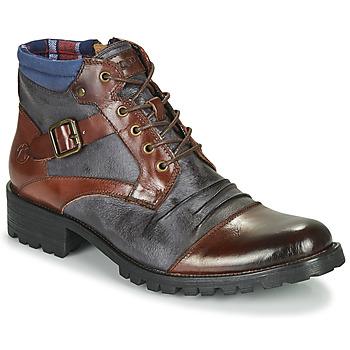Skor Herr Boots Kdopa SLASH Kamel / Blå
