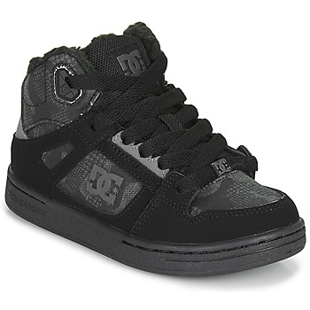 Skor Barn Höga sneakers DC Shoes PURE HIGH-TOP Svart / Grå
