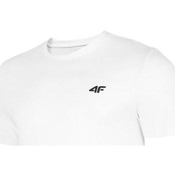 textil Herr T-shirts 4F TSM003 Vit