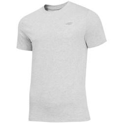 textil Herr T-shirts 4F TSM003 Gråa