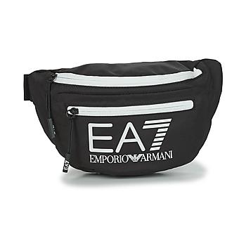 Väskor Midjeväskor Emporio Armani EA7 TRAIN CORE U SLING BAG Svart / Vit