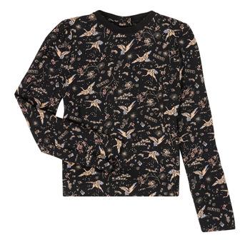 textil Flickor Långärmade T-shirts Ikks XR12052 Svart
