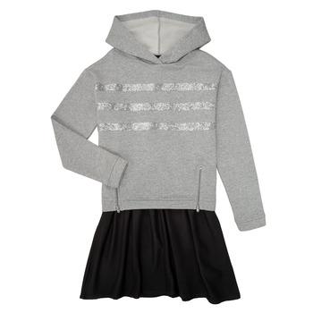 textil Flickor Korta klänningar Ikks XR30112 Grå
