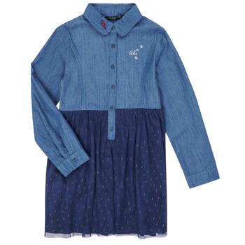 textil Flickor Korta klänningar Ikks XR30122 Blå