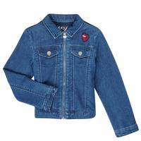 textil Flickor Jeansjackor Ikks XR40052 Blå