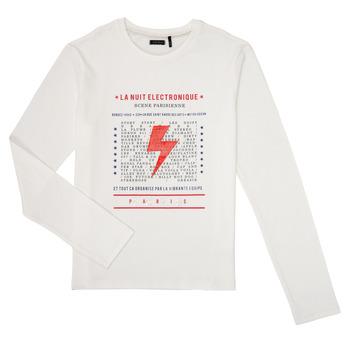 textil Pojkar Långärmade T-shirts Ikks XR10023 Vit
