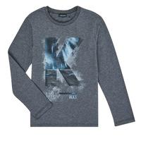 textil Pojkar Långärmade T-shirts Ikks XR10203 Grå