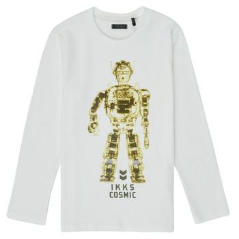 textil Pojkar Långärmade T-shirts Ikks XR10233 Vit