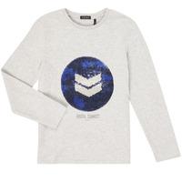 textil Pojkar Långärmade T-shirts Ikks XR10273 Grå
