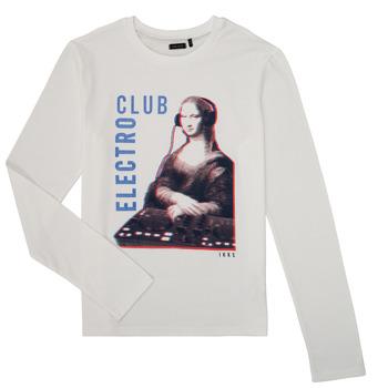 textil Pojkar Långärmade T-shirts Ikks XR10333 Vit