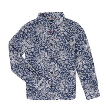 textil Pojkar Långärmade skjortor Ikks XR12023 Blå