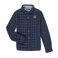 textil Pojkar Långärmade skjortor Ikks XR12123 Blå
