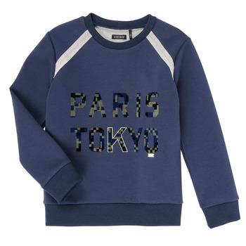 textil Pojkar Sweatshirts Ikks XR15093 Blå