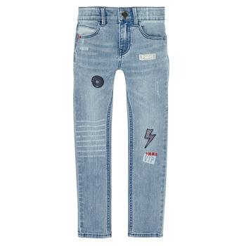 textil Pojkar Stuprörsjeans Ikks XR29053 Blå