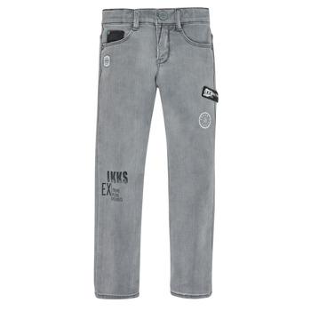 textil Pojkar Stuprörsjeans Ikks XR29123 Grå