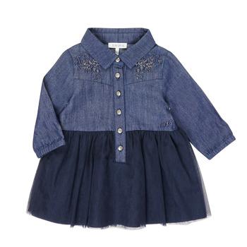 textil Flickor Korta klänningar Ikks XR30150 Blå