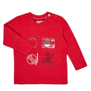 textil Pojkar Långärmade T-shirts Ikks XR10011 Röd