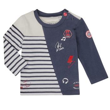 textil Pojkar Långärmade T-shirts Ikks XR10041 Vit