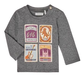 textil Pojkar Långärmade T-shirts Ikks XR10081 Grå
