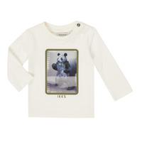 textil Pojkar Långärmade T-shirts Ikks XR10101 Vit