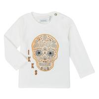 textil Pojkar Långärmade T-shirts Ikks XR10141 Vit