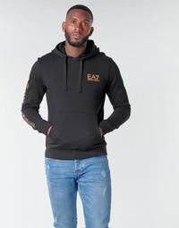 textil Herr Sweatshirts Emporio Armani EA7 TRAIN LOGO SERIES M HOODIE RN COFT Svart