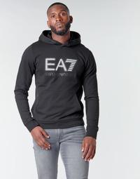 textil Herr Sweatshirts Emporio Armani EA7 TRAIN VISIBILITY M HOODIE RN COFT Svart
