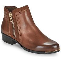 Skor Dam Boots Caprice 25403-313 Cognac