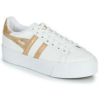 Skor Dam Sneakers Gola ORCHID PLATEFORM Vit / Guldfärgad