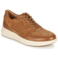 Skor Herr Sneakers Clarks UN GLOBE RUN Kamel