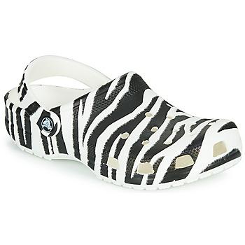 Skor Dam Träskor Crocs CLASSIC ANIMAL PRINT CLOG Zebra